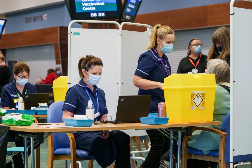 ADM Cloudtech digital support to the NHS COVID-19 vaccination centre at Epsom Downs Racecourse